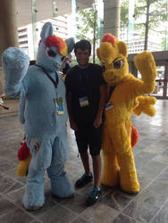 Me with Rainbow and Spitfire
