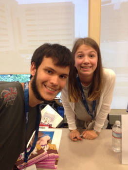 Me at Bronycon with Claire Corlett