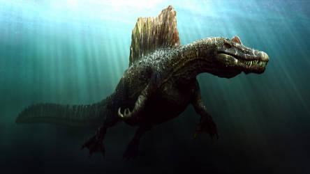 Spinosaurus Underwater