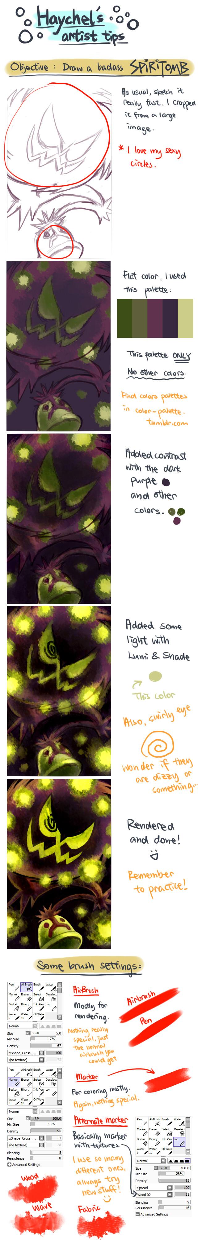 HL's Artist Tips: Spiritomb by Haychel