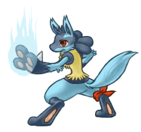 Leon the Lucario (animated) by Haychel