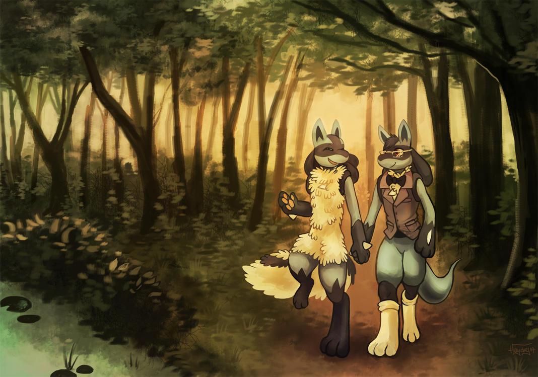 Akiru and SB by Haychel