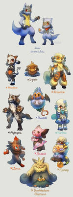 Lucario and Riolu Breed Variation