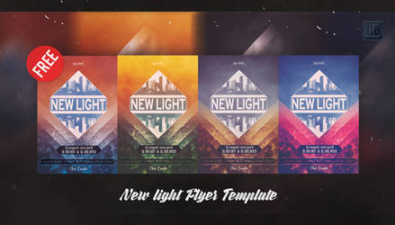 New Light Flyer Template FREE