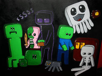 Minecraft Mobs Painting