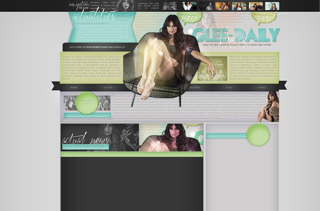 Ordered layout with Lea Michele by redesignbea