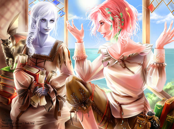 Shady and Imoen by Philiera