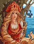 Russian Tales : Beauty Mariya with a long braid.