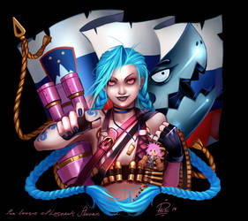 League of legends : Jinx by Philiera
