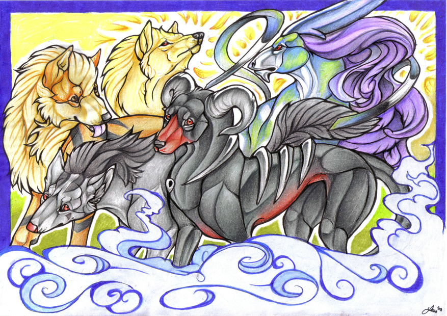 Pokemon Canines by DiamondEden