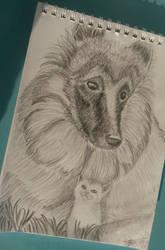 Little Friendship_Sketch by MedeaSafir