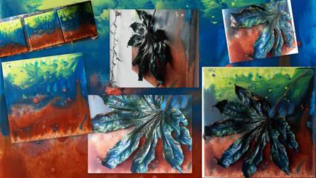 Leaf_blue-Collage by MedeaSafir