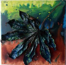 Leaf_blue (30/30cm) by MedeaSafir