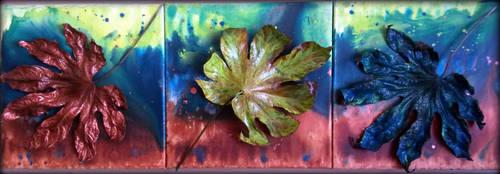 Falling Leafes (3 x 30/30cm) by MedeaSafir