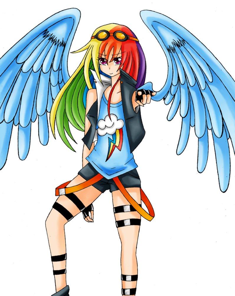 rainbow dash human by dashxblitzlove on deviantart