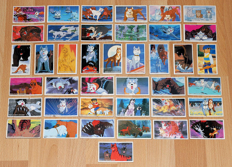 Ginga Nagareboshi Gin Menko Cards