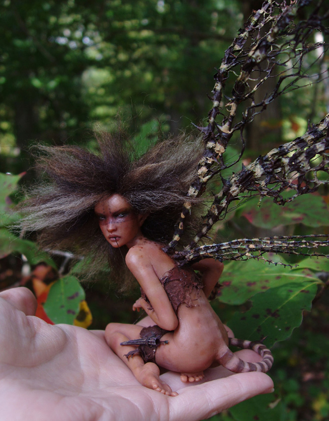 Handling Poison -faerie sculpt by pixiwillow