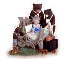Goldilocks and the Three Bears by pixiwillow