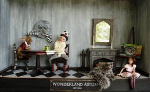 Wonderland Asylum - 1:12 scale by pixiwillow