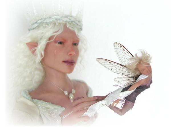 Art doll SCULPTURE elf - fairy by pixiwillow