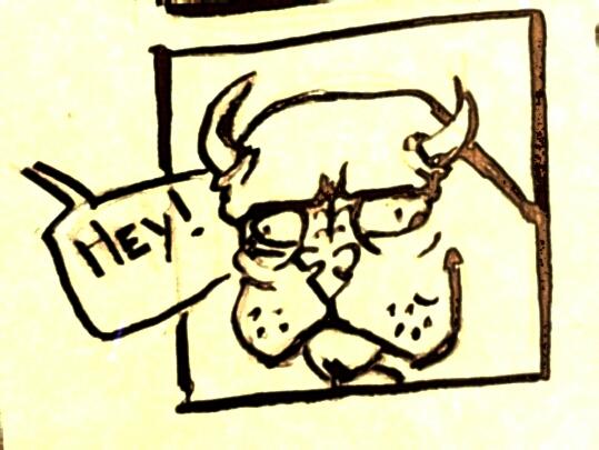 Strange creature comic panel by emmafloflo