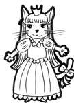 Kocici princezna - omalovanka