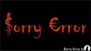 Sorry Error