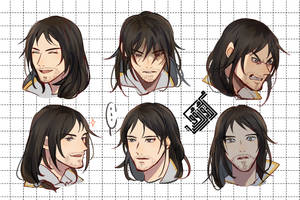 Expression sheet commission for Roni by Midorizou