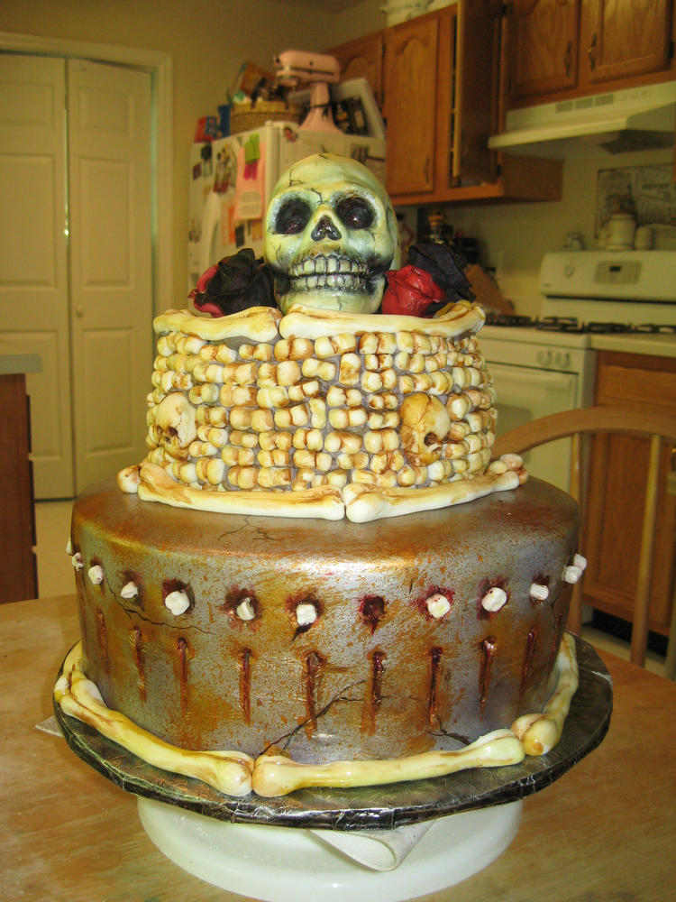 NIN_Catacombs Inspired Cake by ohnoono