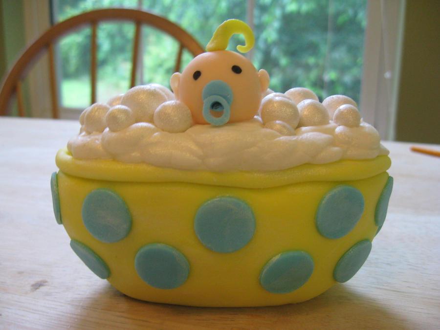 custom baby shower cake topper by ohnoono on deviantart