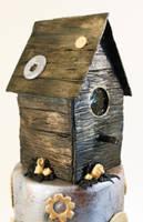 SteamPUNK Birdhouse Cake 2 by ohnoono