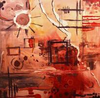 Abstract Art Random Sun by CalebMiles