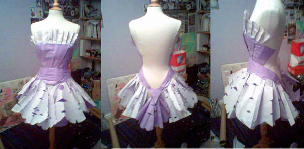 Paper Origami Dress By Dudette123 On Deviantart