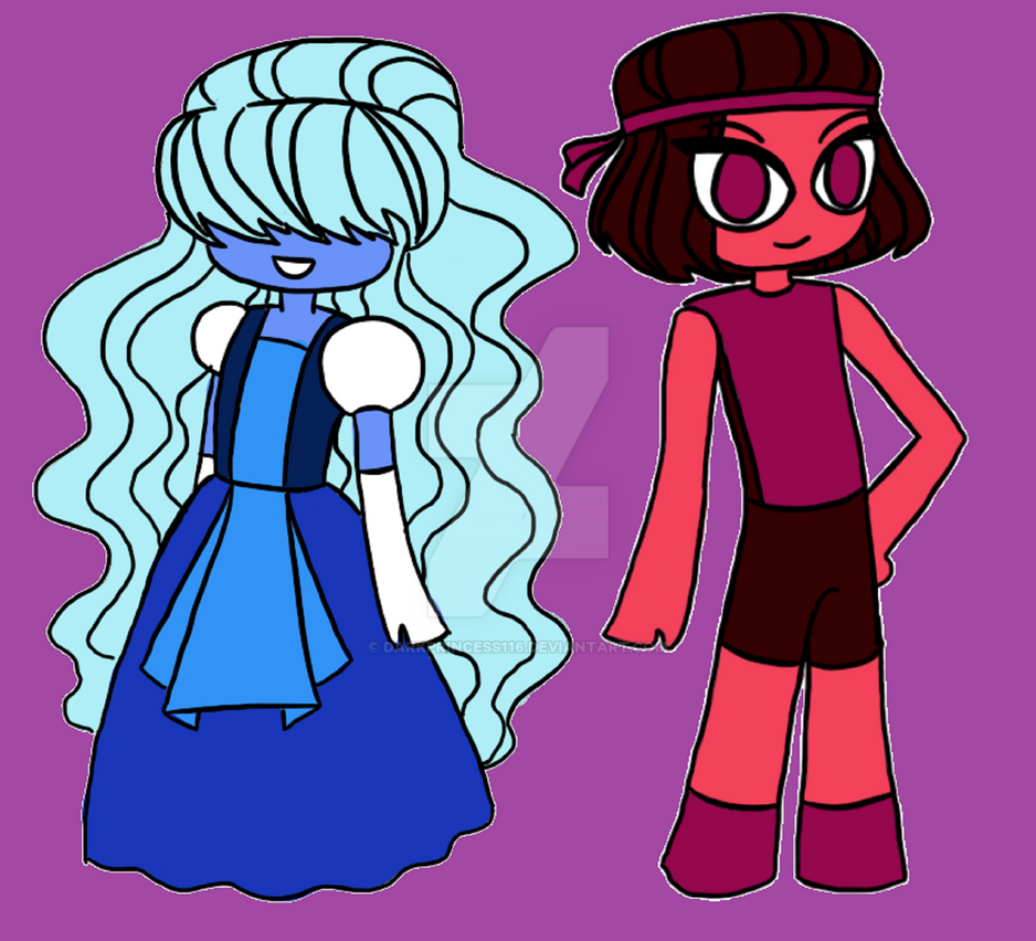 Steven universe ruby and sapphire by darkprincess116 on - Ruby and sapphire su ...