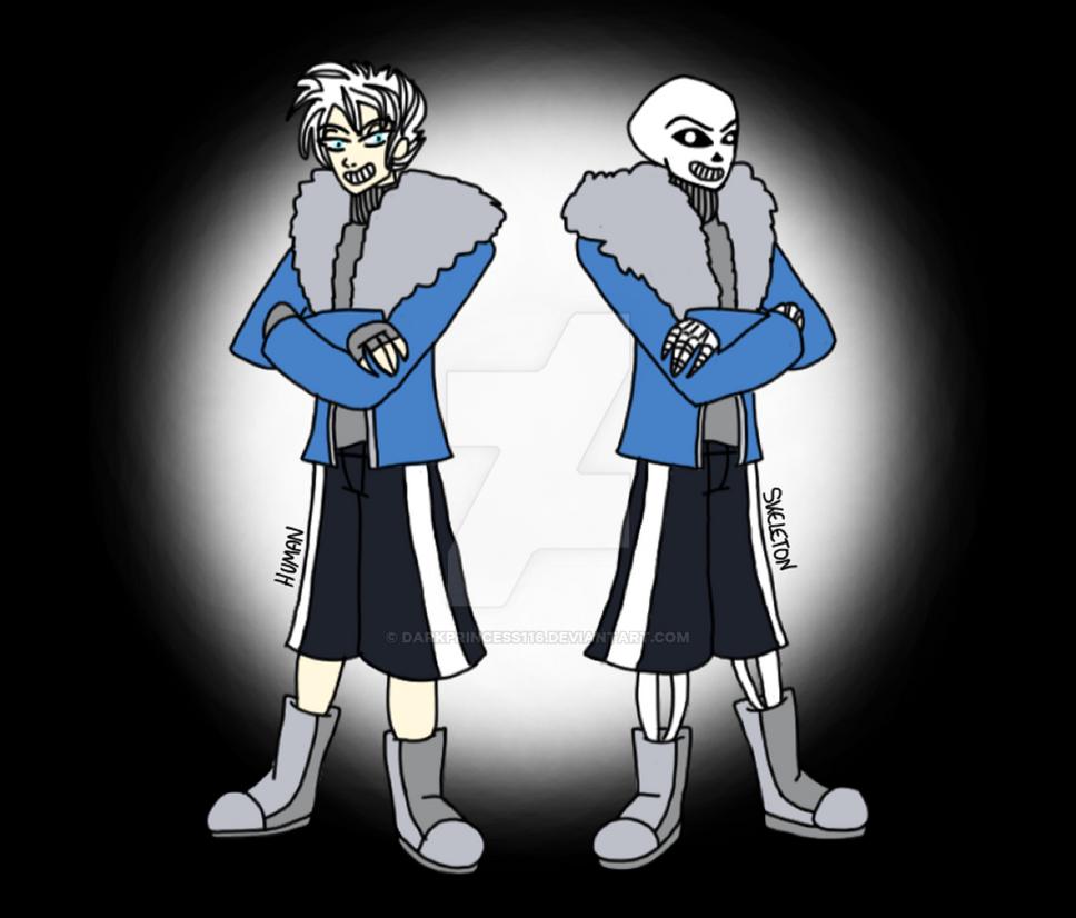 UNDERTALE Human And Skeleton By DarkPrincess116 On DeviantArt
