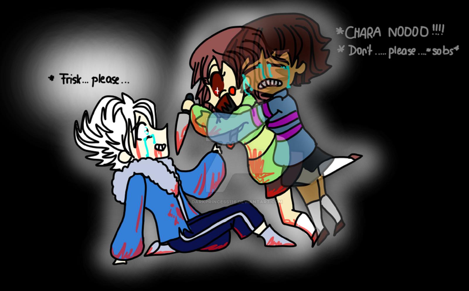 UNDERTALE: Chara just STOP ALREADY by DarkPrincess116 on