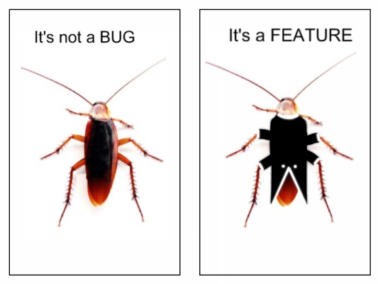 not a bug, a feature