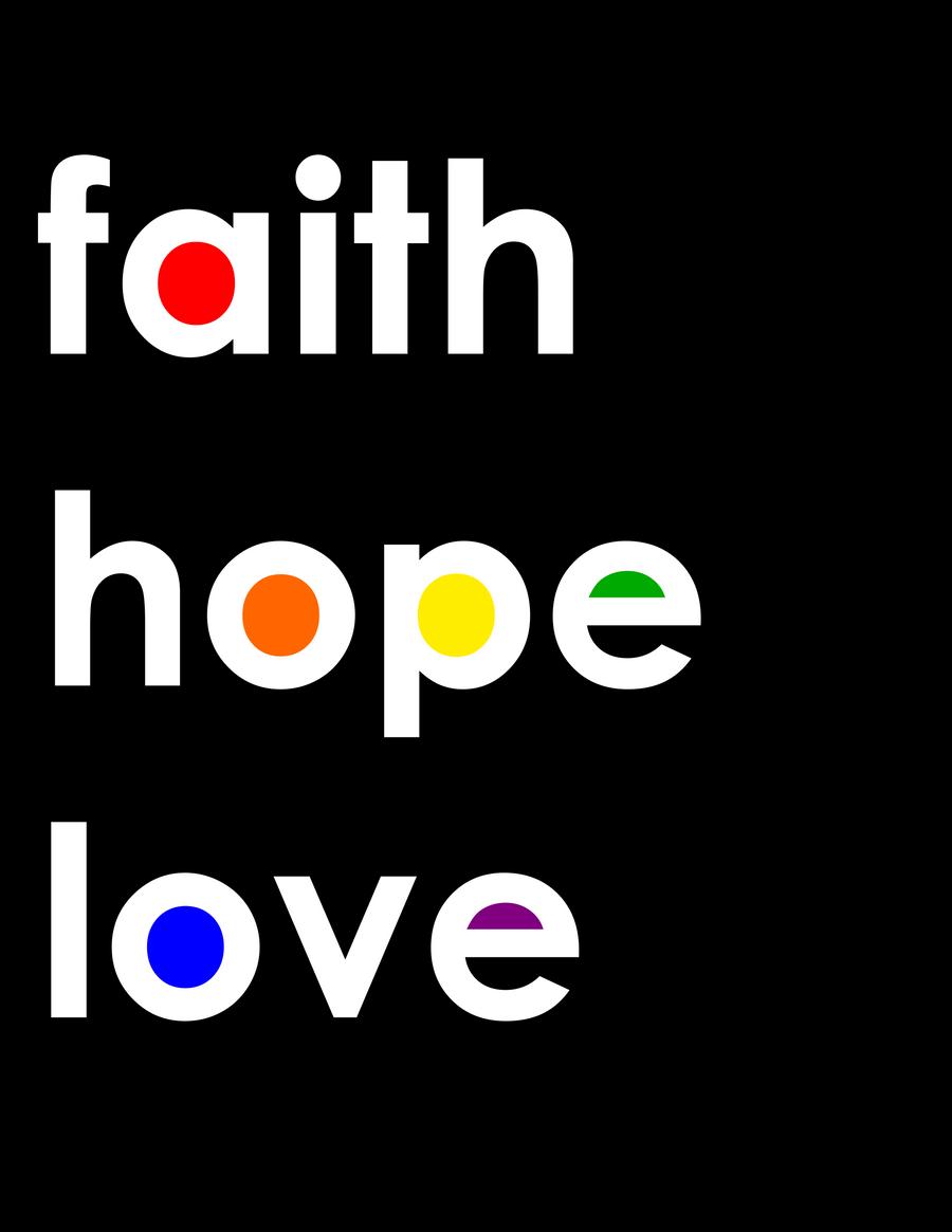 Faith Hope Love Kitchen Decor
