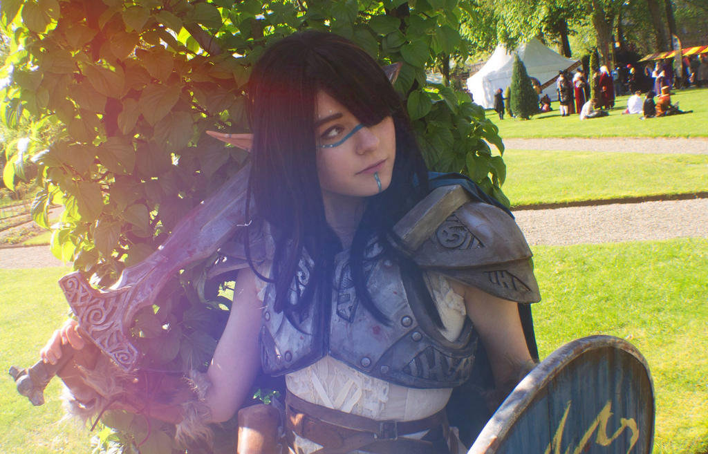 Skyrim Woodelf cosplay by Dr-Bowman