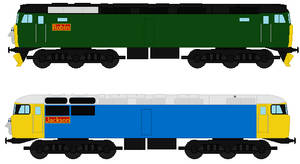 Robin and Jackson the Class 57 and 56