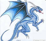 Blue Dragon Flying