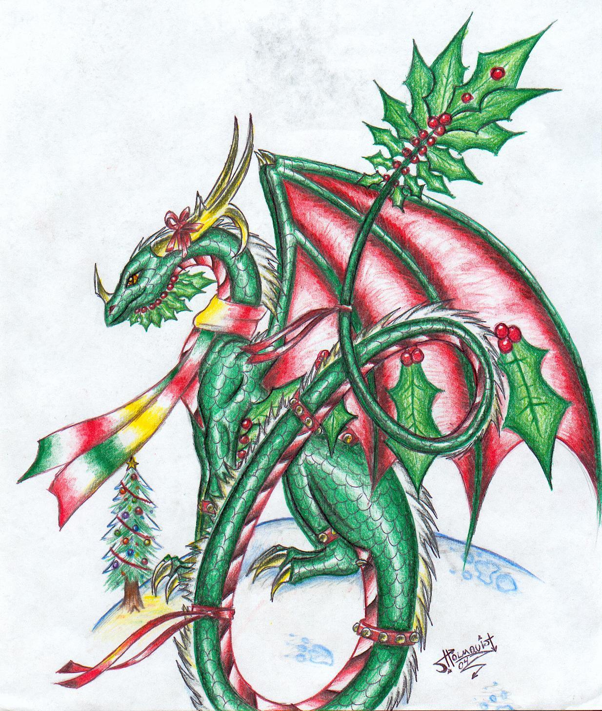 Dragon Play - Page 5 Christmas_Dragon_2004_by_Talonclawfange