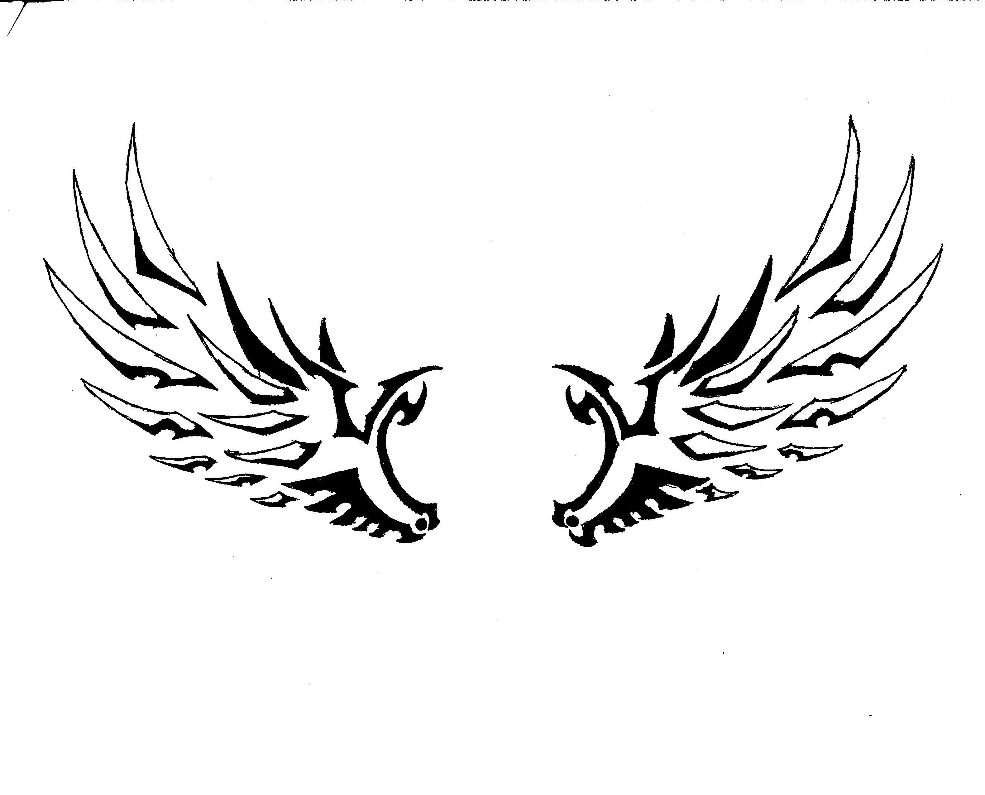 Tribal Angel Wings by DarkSeraphim02 on DeviantArt