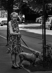 Old Lady with Dog