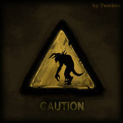Fallout 3 Warning Sign: Deathclaw by AbyssalCerebrant