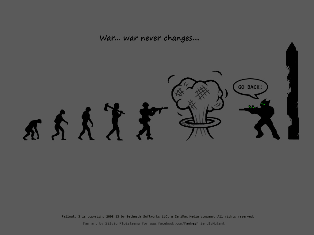 War Never Changes Fallout Wallpaper By AbyssalCerebrant