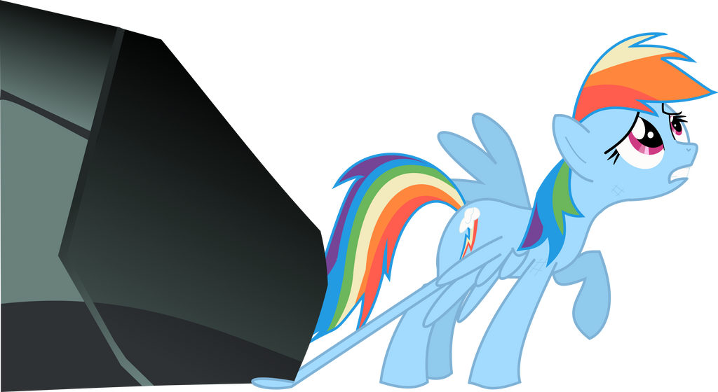 Rainbow Dash Crying Vector Rainbow dash vector trace