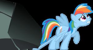 Rainbow Dash Vector Trace