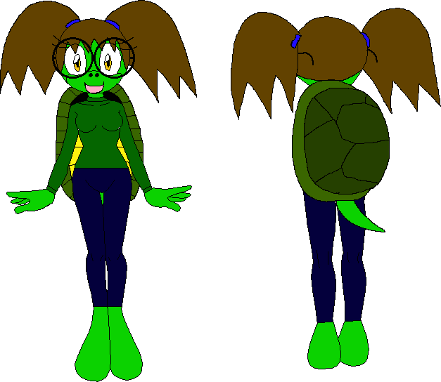Female Mobian Turtle by XxRobotChaoxX