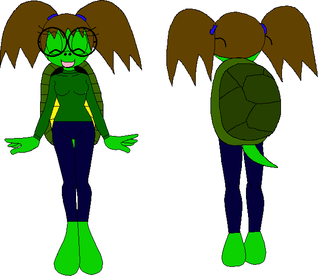 Female Mobian Turtle 1 by XxRobotChaoxX